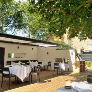 Store de terrasse pour restaurant